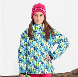 Traje de chaqueta de esquí Windproof piel gruesa de algodón caliente para niños