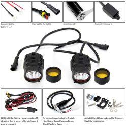 Luzes Auxiliares de motocicleta FARÓIS LED Foco dianteiro 50W 4500lm 12V 24V Moto da luz de nevoeiro com Interruptor de Luzes