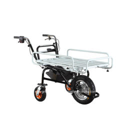 Una carriola elettrica/carrello/carrello/Handtruck/Pushcart delle tre rotelle con il blocco per grafici