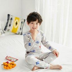 2020 Nuevo Popular de dibujos animados Cute Imprimir niños pijamas de algodón de manga larga ropa de bebé