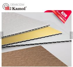 OEM及びODM PVDF Coating A2 Grade 4mm Corrugated Core Fireproof Facade Aluminium Composite Sheet
