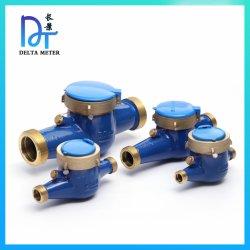 Trockener Typ Leitschaufel-Rad-multi Strahlen-kaltes horizontales Wasser-Messinstrument des Messingdrehmechanismus-DN15-50