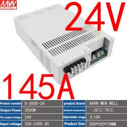 24V 145A Hochleistungs-Schaltnetzteil AC 220V Eingang DC 24V Ausgang 3500W volle Leistung