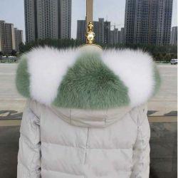 Bandes de fourrure de loup personnalisé tissu Châle 100% naturel raton-laveur réel pour les manteaux Col de Fourrure de renard