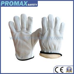 Thinsulate гильзы Premium класса Cow зерна кожаные перчатки во время движения
