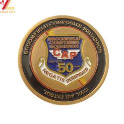 昇進のためのカスタムロゴの金の記念品3Dの硬貨