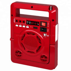 راديو الشحن الشمسي مع ضوء LED TF SD السيارة MP3 مشغل موسيقى مع Bluetooth®