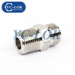 Connettore del filetto maschio dell'acciaio inossidabile 304 per il tubo flessibile idraulico