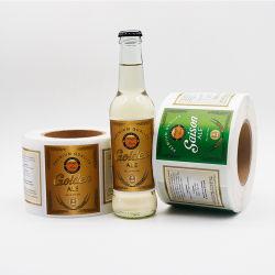 Vinylfirmenzeichen-beschriftet kundenspezifische Flaschen-Aufkleber-Goldfolie Drucken