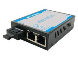 Mini tamaño 10m/3 Puertos Switch de fibra 100m con transmisión de datos a larga distancia de 20 Km.