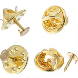 Nuevo diseño de plata metálica de la mariposa dorada mariposa embrague embrague Pin insignias