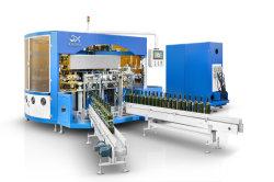 Commandé par CNC automatique 4 bouteille de vin en verre de couleur de l'étiquette marque Silk Screen Machine d'impression