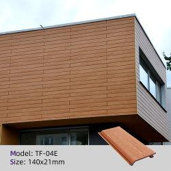 Painel de parede exterior do tejadilho Madeira - plástico Painel de revestimento de parede composto