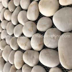 Kiesel-Steinmosaik-Fliese-Bodenbelag-und Wand-Fliesen