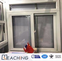 Spinta di vetro bianca scorrevole di UPVC Widnow singola aperta
