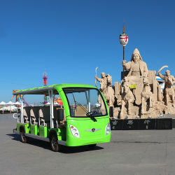 CE 認定を取得した 14 名のお客様の電動観光車