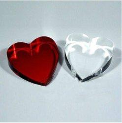 結婚式の好意のための視覚のハート形の透明なダイヤモンド