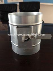 Rond en acier ronde VCD de contrôle du volume de l'amortisseur du conduit d'usine de CVC de l'amortisseur