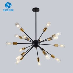 Decoração Luzes Pendente de ferro criativa personalidade da lâmpada LED moderno Lustre