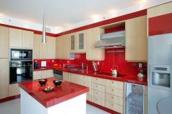 Cozinha de cor Red Star Stone as bancadas fiquem riscadas