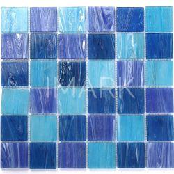 파란 정연한 유리제 수영풀 도와 모자이크 중국 도매 공급자