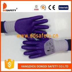 Het purpere Witte Nylon bedekte Handschoenen van 3/4 de Purpere van het Nitril Bescherming van Anticut Werkende met een laag