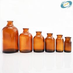 Botella de vidrio moldeado botella ámbar