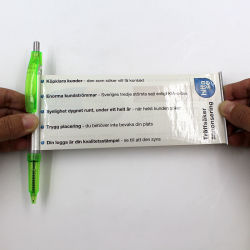 O DOM MAIS BARATO puxar Promoção Caneta com rolo de papel para fora o logotipo personalizado Pavilhão Dom Mensagem Pen