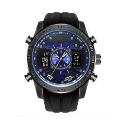 LED moderno relógio esportivo Digital posterior em aço inoxidável relógios masculinos para Dom (JY-SQ071)