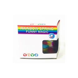7.5cmレーザーのプラスチック虹のばねのおもちゃは教育演劇のしなやかで優雅なおもちゃの昇進のギフトをからかう