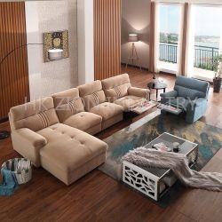 Sofa-Set Möbel Moderne Couch Wohnzimmer Sofa-Stuhl Recliner Sofa-Set Stoff für Sofakissen Möbel-Sektional Sofa Mit Beinauflage