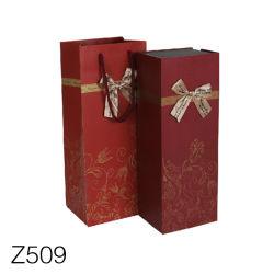 Z509 het Vakje van het Document van het Karton van de Verpakking van de Rode Wijn met het Vakje van de Gift van de Wijn van het Deksel van de Magneet