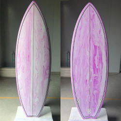 Spezieller abstrakter Entwurf des Retro Fisch-Epoxidvorstands im Rosa