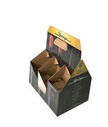Custom Paper Beer Box Wine Bottle Gift Box 6 Pack