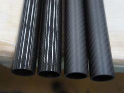 Uitstekende kwaliteit Aangepaste Duidelijke Oppervlakte 100% van de Keperstof van de Pijp van de Vezel van de Koolstof 3K Vezel de Met hoge weerstand van de Koolstof