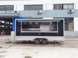 De nieuwe Grote Mobiele Mobiele Opslag van de Wafel van de Pizza van de Aanhangwagen van het Voedsel van de Vrachtwagen van de Barbecue