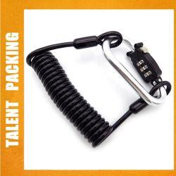 Câble rétractable antivol de sécurité Casque mousqueton de verrouillage de combinaison