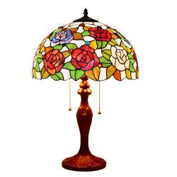 Prix de gros Handmade vitrail Tiffany lampe de table