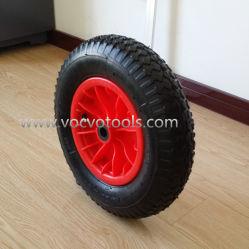 Venta caliente de la rueda de goma de neumático y llanta de plástico