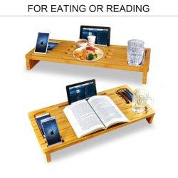 Support de moniteur de bambou Riser-Laptop Desk étagère de montage de moniteur pour téléphone cellulaire/TV/imprimante/support d'ordinateur avec le stockage pour bureau à domicile de l'organiseur BT-2221