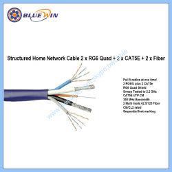 В комплекте кабель домашней сети 2xrg6 Quad+2xcat5e + 2xfiber