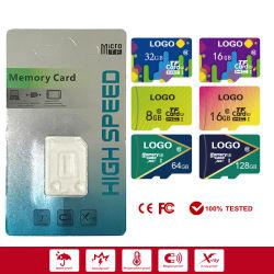 تخصيص بطاقة الذاكرة Micro/TF/Flash سعة 4 جيجابايت إلى 128 جيجابايت SD بكامل سعتها