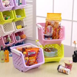 Armazenagem de plástico cestos, compartimento de empilhamento, cestos de prateleira