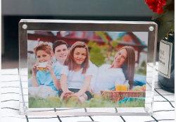 Comercio al por mayor 5'' 6'' 7'' 8'' 10'' A4 Metacrilato Líquido Acrílico transparente de fotos magnético un marco de imagen