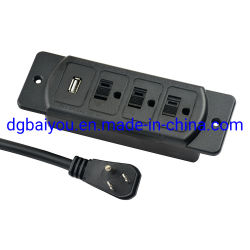 Us/Canada Möbel-Energien-Anschluss-Streifen-Kontaktbuchse-Tisch-Oberseite Headbord Schreibtisch mit einzelnem USB