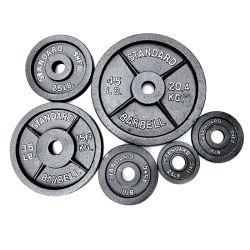 Uso en el hogar y el gimnasio Peso de la campana olímpica de hierro fundido pintado Placas