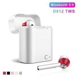 D012 Microfoon van de Hoofdtelefoons HD van het Effect van de Sporten van de Oortelefoons van de Hoofdtelefoon Bluetooth van Tws de Nieuwe Draadloze Stereo Draadloze Mini Bas voor Telefoon