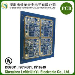 Fr4 8La couche d'immersion de la moitié de la PTH Trou Gold Connecteur carte à circuit imprimé électronique