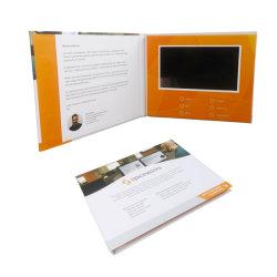 Capa dura personalizada 10.1 polegadas LCD digital publicidade na Brochura de vídeo