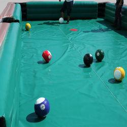 لعبة البلياردو الرياضية كبيرة قابلة للنفخ لعبة مضحك زورق مطاطي تفاعلي لكرة القدم ركوك قدم الطاولة
